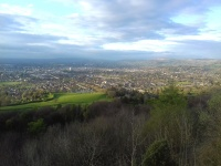 Overview of Cheltenham from Leckhampton Hill