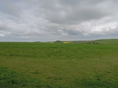 Silbury Hill from West Kennet Long Barrow