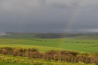Rainbows do end at Beachy head